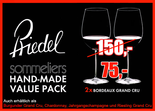 Riedel Sommeliers Value-Pack Hand-Made Bordeaux Grand Cru